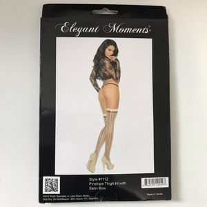 🆕 Elegant Moments Thigh High Tights Stockings OS